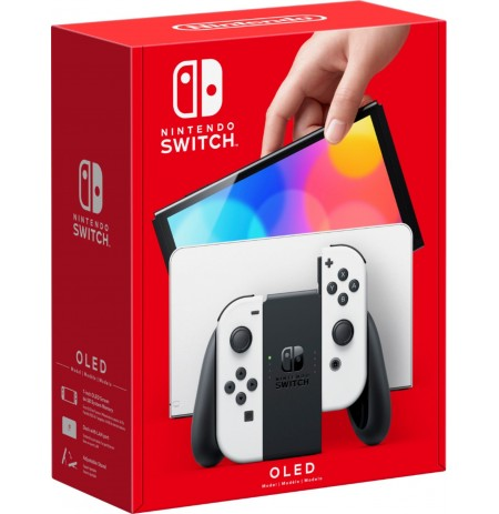 Nintendo Switch OLED konsool (valge Joy-Con'iga)