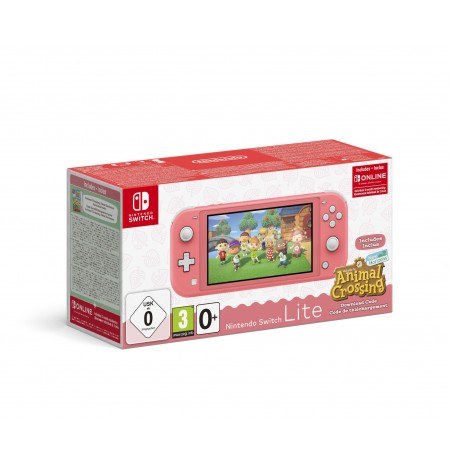 Nintendo Switch Lite | Coral + Animal Crossing: New Horizons