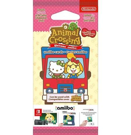 Animal Crossing amiibo Kaardid Seeria Sanrio (6tk)