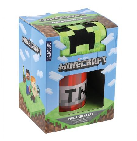 Minecraft kruus ja sokid kinkekomplekt
