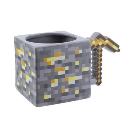 Minecraft Gold Pickaxe 3D tass