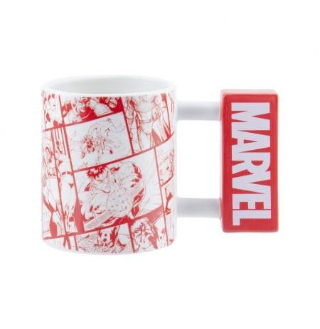 Marvel Logo 3D tass