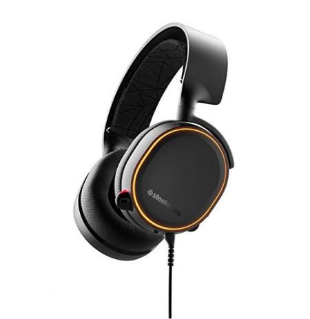 Steelseries Arctis 5 Mustad (2019 Edition) mänguri kõrvaklapid l USB/3,5 mm